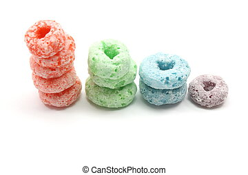 Stacked Fruity Rings Cereal