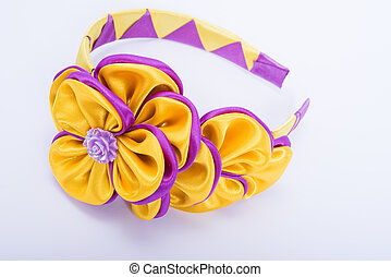 Colored barrette - Colored hair clip on a white background