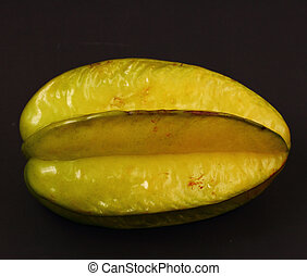 star fruit - isolated star fruit on a black background