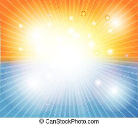 Hot sun lights background