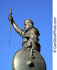 Alfred The Great - King Alfred The Greats statue designed by...