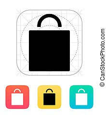 Shopping bag icon. Vector illustration.