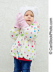 ready for cold weather - toddler girl is ready for cold...