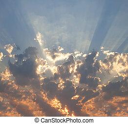 太陽, 天空