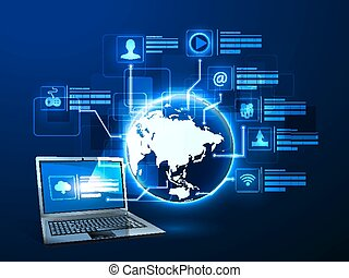 Internet technology - Vector illustration of the concept of...