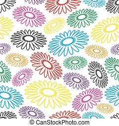 colorful simple abstract flower seamless light pattern eps10