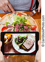 tourist photographs of french meat pate