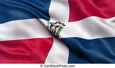 Flag of the Dominican Republic seamless loop