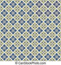 retro geometric seamless pattern in blue, and grey. seamless...