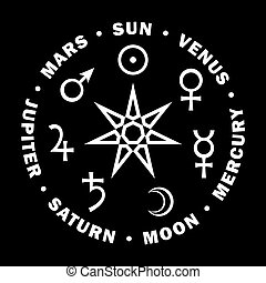 Septener. Star of The Magicians. Seven planets of Astrology....