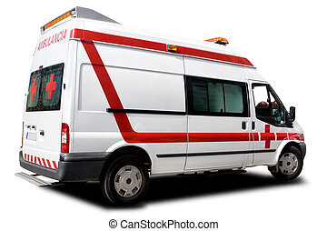 Ambulance - An Ambulance Isolated on a White Background
