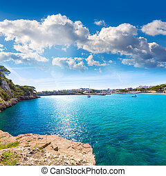 Majorca Porto Cristo beach in Manacor at Mallorca - Majorca...