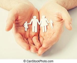 papel, hombres, familia, hombre