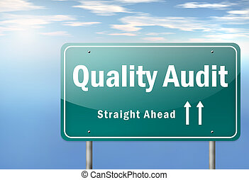 Highway Signpost Quality Audit - Highway Signpost with...