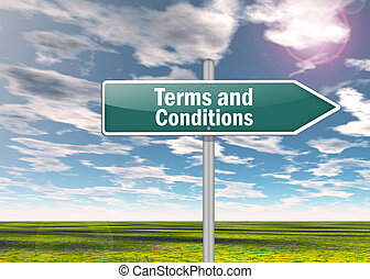 Signpost Terms and Conditions - Signpost with Terms and...