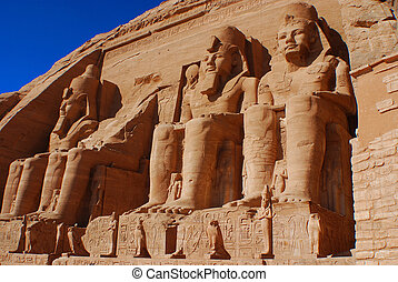 Abu Simbel - The Abu Simbel temples are two massive rock...