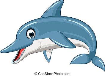 cute dolphin cartoon - vector illustration of cute dolphin...