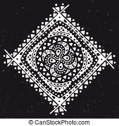 Abstract ornament on dark background, vector illustration