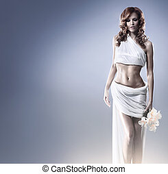 Fashion shoot of Aphrodite styled young woman - Aphrodite...