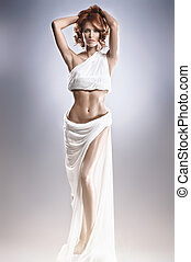 Fashion shoot of the Aphrodite - Aphrodite styled young...