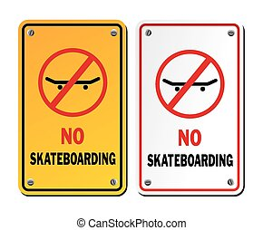 no skateboarding signs - suitable for warning signs