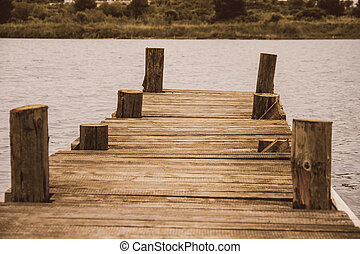 Boat dock - Wooden Boat dock jetty