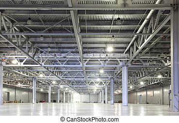 Storehouse - Interior of huge empty storehouse