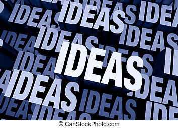 Ideas Everywhere - A 3D blue gray background filled with the...