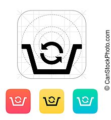 Shopping basket exchange icon Vector illustration