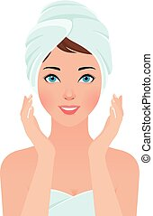 Portrait of a girl shining purity i - Stock vector...
