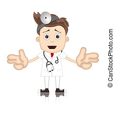 Friendly Ben Boy Doctor Doc Medicone Hospital Cartoon
