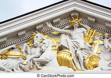 Detail from the National Theatre, Sofia, Bulgaria