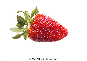 strawberry - Red Ripe delicious Organic Strawberry, isolated...