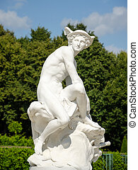 Statue of Hermes in Park Sanssouci, Potsdam, Germany - A...