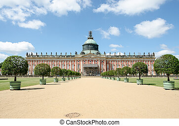 New Palace in Sanssouci Park, Potsdam, Germany - The New...