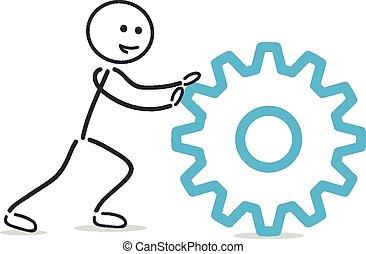 pushing gearwheel