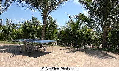 Tropical Ping Pong Table Pan - Paradise comes complete with...