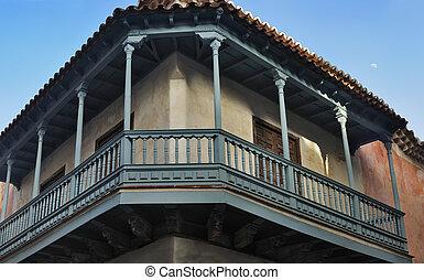 Vintage colonial balcony in Havana