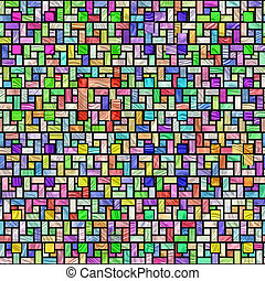 colorful stained glass pattern