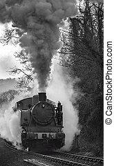 vapor, tren,