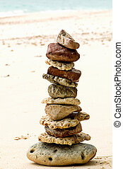 stones on the beach - wellbeing