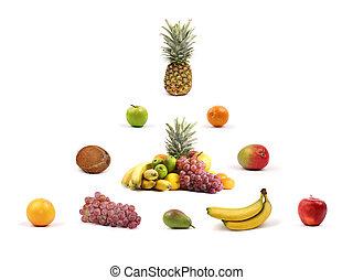 saudável, nutrição, piramide