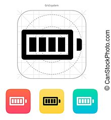 Full charge battery icon. Vector illustration.