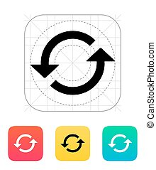 Reload icon Vector illustration