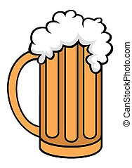 Pint of beer - Vector illustration on pint of beer cartoon...