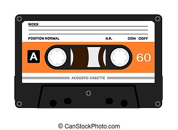 Audio Casette - Vector illustration of accoustic casette on...