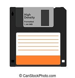 Diskette - Vector illustration of computer diskette