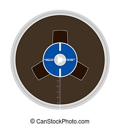 Magnetic tape - Vector illustration of magnetic tape