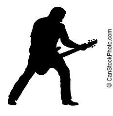 Guitarist - Abstract vector illustration of rock guitarist...