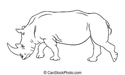 Rhinoceros - Abstract vector illustration of rhinoceros